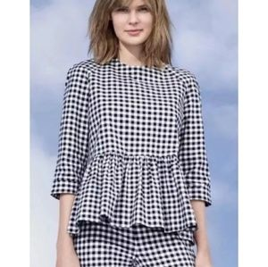 Victoria Beckham for Target gingham blouse